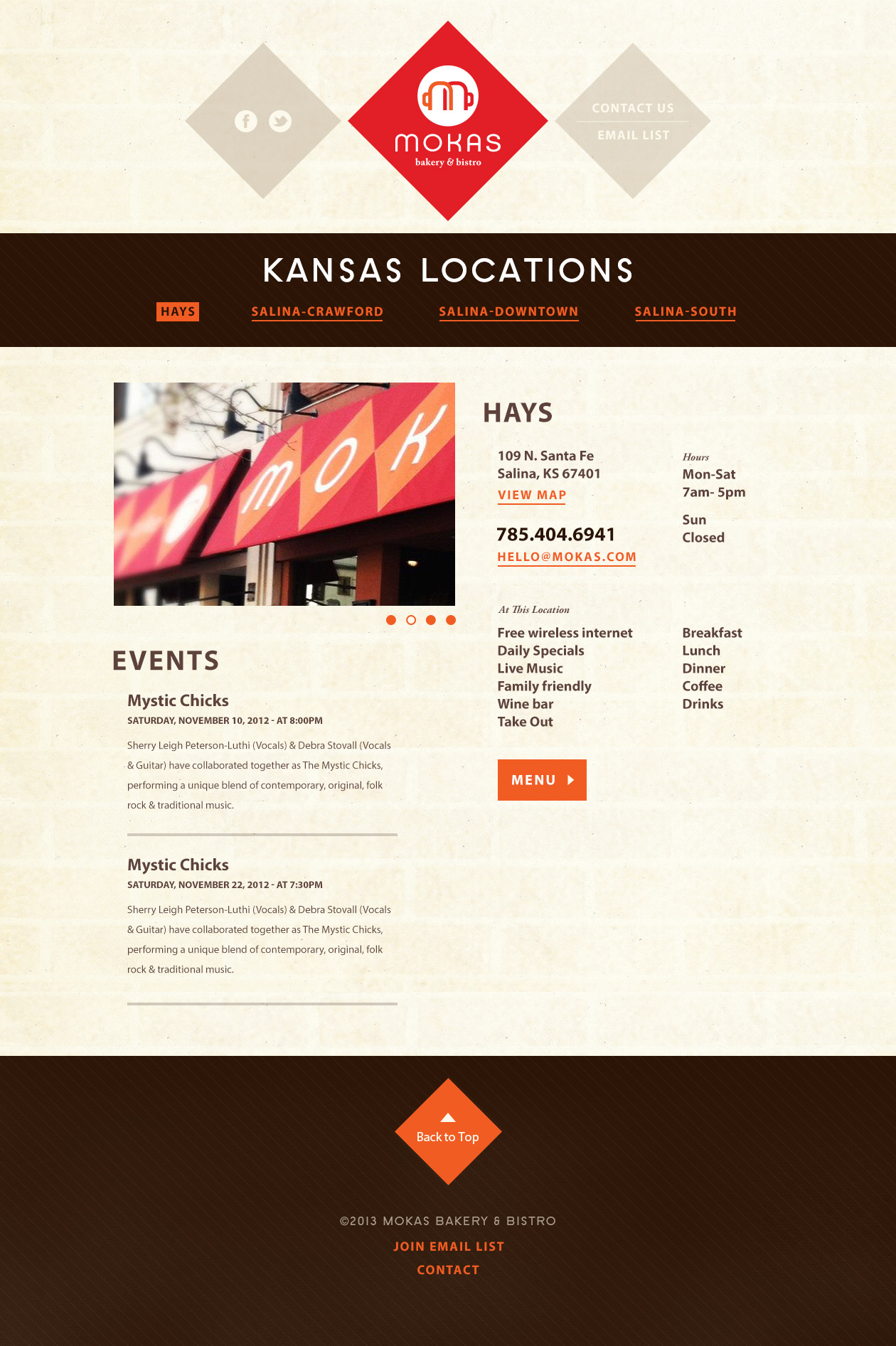 Locations Page
